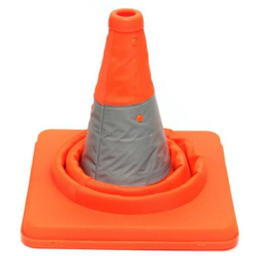Folding Collapsible Highway Road Reflective Tape Safety Cone Traffic RF