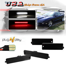 4pcs Smoke Front Rear Led Side Marker Lights For 98 02 Pontiac Firebird Trans Am