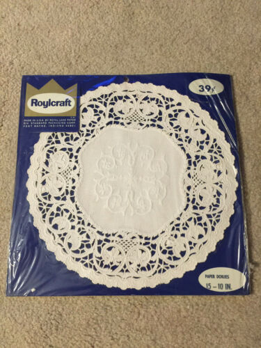 "Roylcraft 15 10"" Paper Doilies White Vintage unopened"
