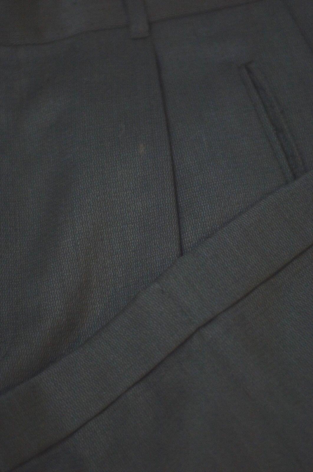 Riviera Riviera Riviera Uomo Grigio Nero Increspatura Weave Lana Lusso Pantaloni Eleganti 32 X cba5dd