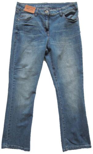 New Womens Blue Crop Flare NEXT Jeans Size 14 12 10 Regular Leg 25