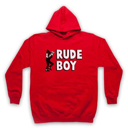 Rude Boy Jamaïcain street culture Slogan 2 Tone Ska Fan Adultes Enfants Sweat à capuche