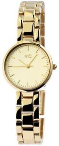 MC-Timetrend-Germany-Damenuhr-Gold-Analog-Metall-Quarz-Armbanduhr-X51949