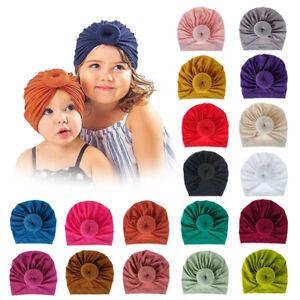 Infant-Kids-Headband-Hat-Cotton-Turban-Hat-Donuts-Knot-Head-Wrap-Beanie-Hat-1x