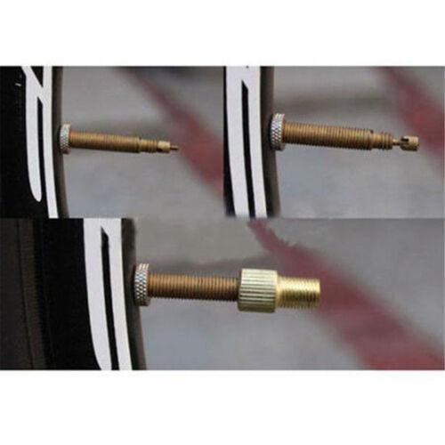 2Pcs Presta to Schrader Tube Pump Tool Converter Bicycle Tire Valve Adaptor Tool