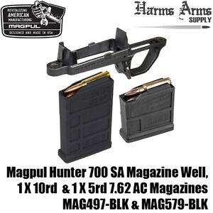 Details about MAGPUL HUNTER 700 Mag Well +10 & 5 round Magazines 7 62 AC  AICS SA MAG497 MAG579