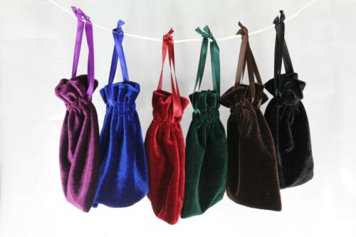 "Jewelry Wedding Party Gift Drawstring Pouches 10pcs Medium 4/""x6/"" Velvet Bags"
