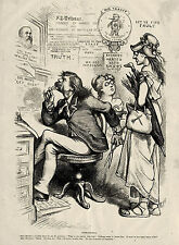 NEW YORK TRIBUNE Whitelaw Reid Homophobia Newspaper Nast Satire Cartoon 1875