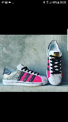 Details zu Schuhe Adidas Superstar mit für Feldspritze Bunt