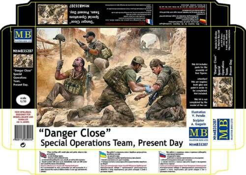 """MASTER BOX™ 35207 Special Operations Team Present Day /""""Danger Close/"""" in 1:35"""