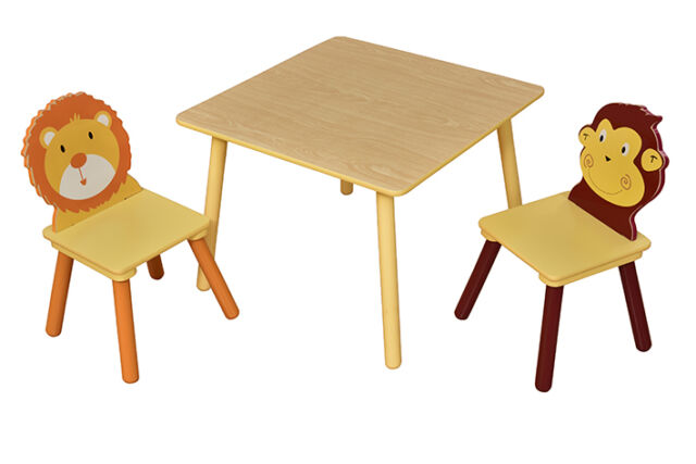 Jungle Square Table 2 Chairs Set