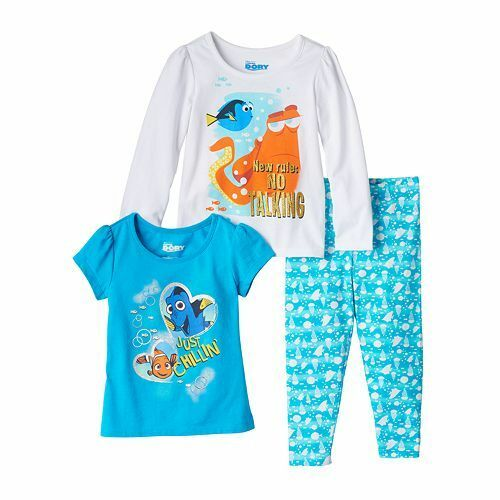 NWT Girls 3 piece outfit set Frozen Dory Paw Patrol 2T 3T 4T 2 shirts leggings
