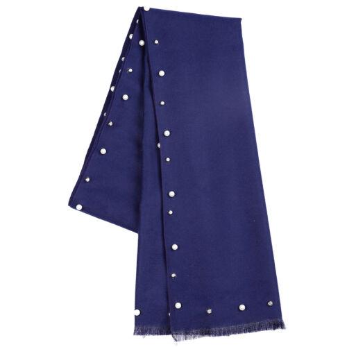 Ladies Designer Pearl Warm Scarf Wrap Tassel Soft Scarves Shawl High Quality