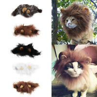 Pet Costume Lion Mane Wig For Cat Halloween Christmas Party Dress Up With Ear Zm