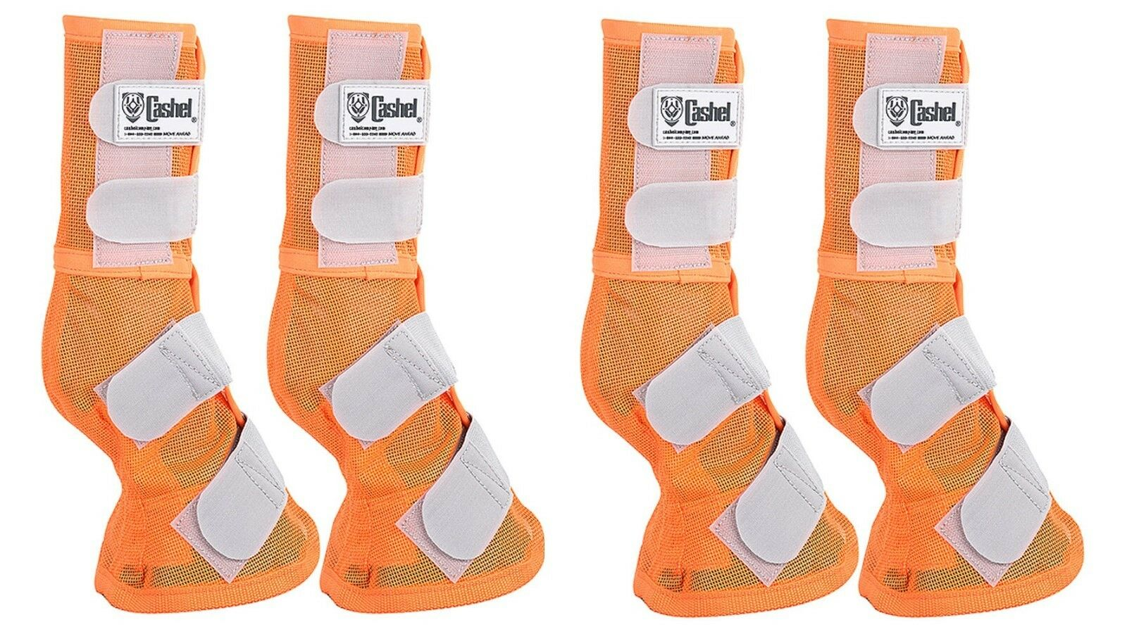 Cashel Crusader ARAB Größe Größe ARAB Orange Front Rear LEG GUARDS Mesh Stiefel Fly Control 921563