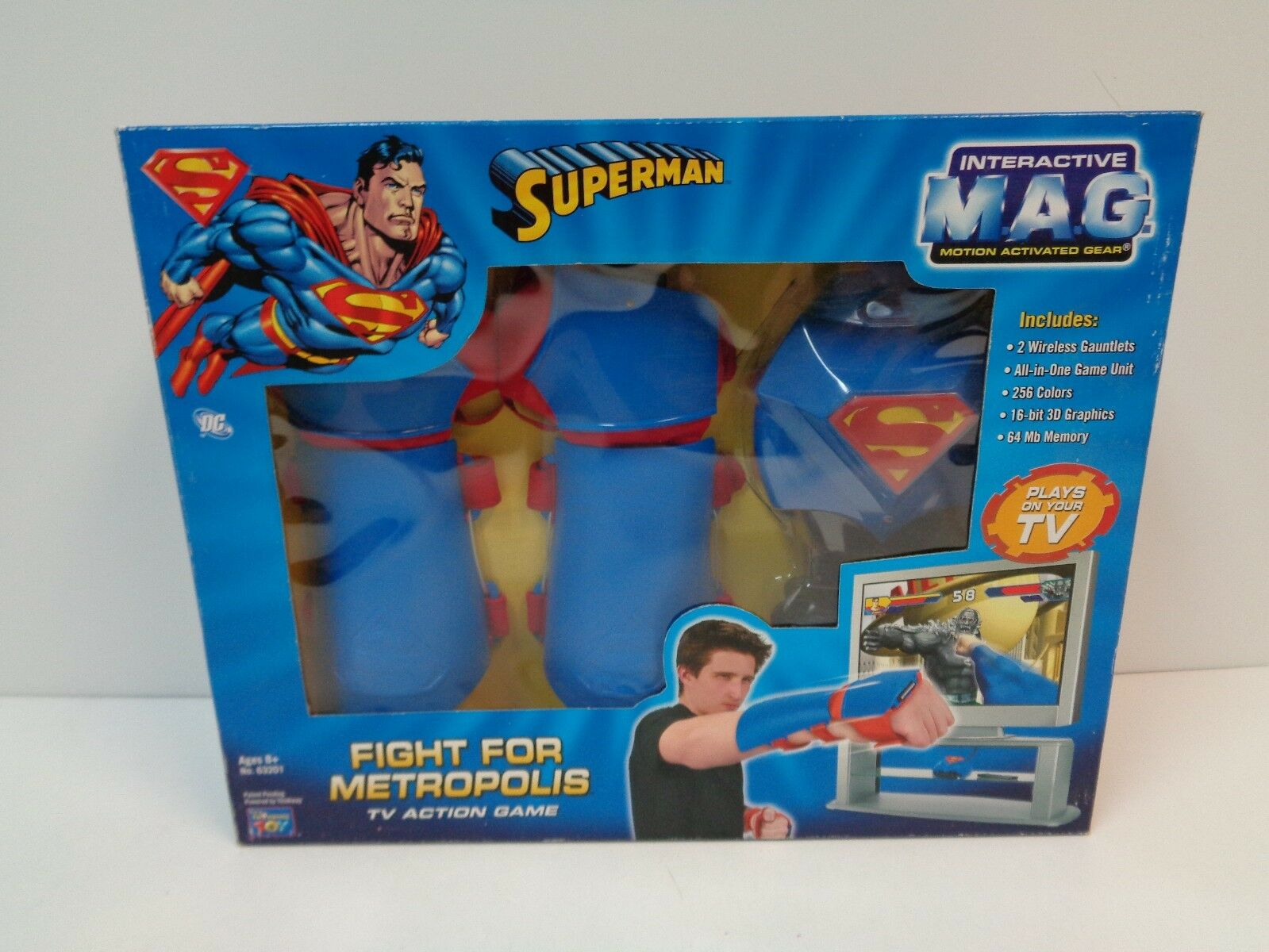 DC Comics SUPERhomme FIGHT  FOR METROPOLIS TV Action Game MIB Interactive M.A.G.  prix raisonnable