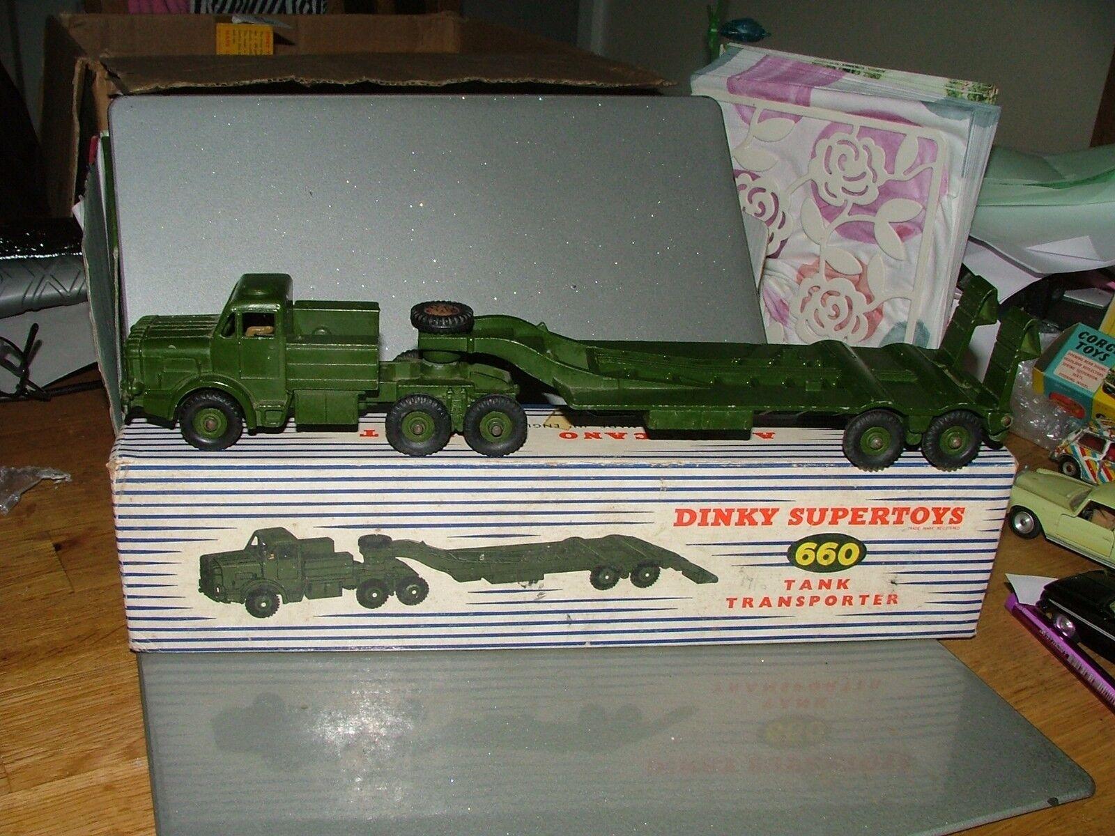 Dinky 660 tank transporter VN parfait état boîte d'origine