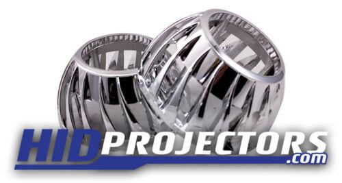"Mini Turbina brandal 2.5/"" Projetor Retrofit Angel Eyes x2 Cromo Halos"