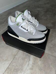 Jordan Retro III 3 Chlorophyll Green Cool Grey Black White Cement Sz 10