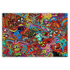 W990 Blacklight Paintings Psychedelic Abstract Trippy Art Silk Poster