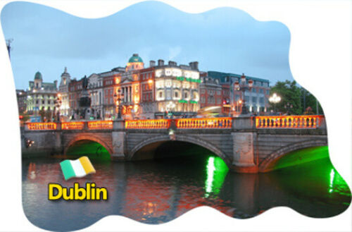 Dublin Irland Ireland Fridge Magnet Flagge Fahne Epoxid Reise Souvenir