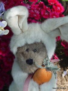 "Retired Boyds Bears Marlowe Snoopstien Bear in Bunny Outfit 11"" Tall"
