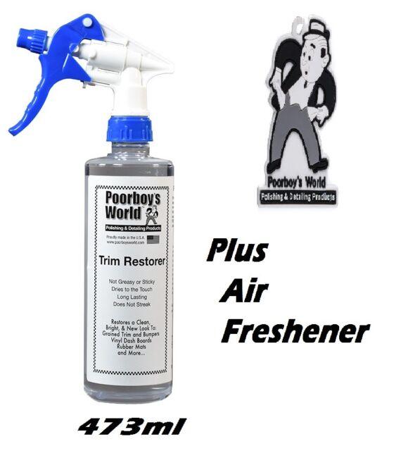 Poorboys Trim Restorer Plastic Bumper Vinyl Interior & Exterior + Air Freshener