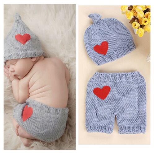 lovely heart handmade lovely baby tiger knit Clothes Photo Prop clothes