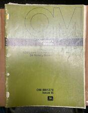 John Deere 100 Lawn Tractor Amp 34 Rotary Mower Operator Manual Om M81274 I6 V 3