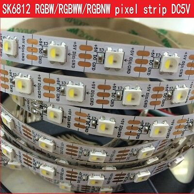1m 2m 5m SK6812 RGBW led strip WWA addressable led with integrated WS2811 IC