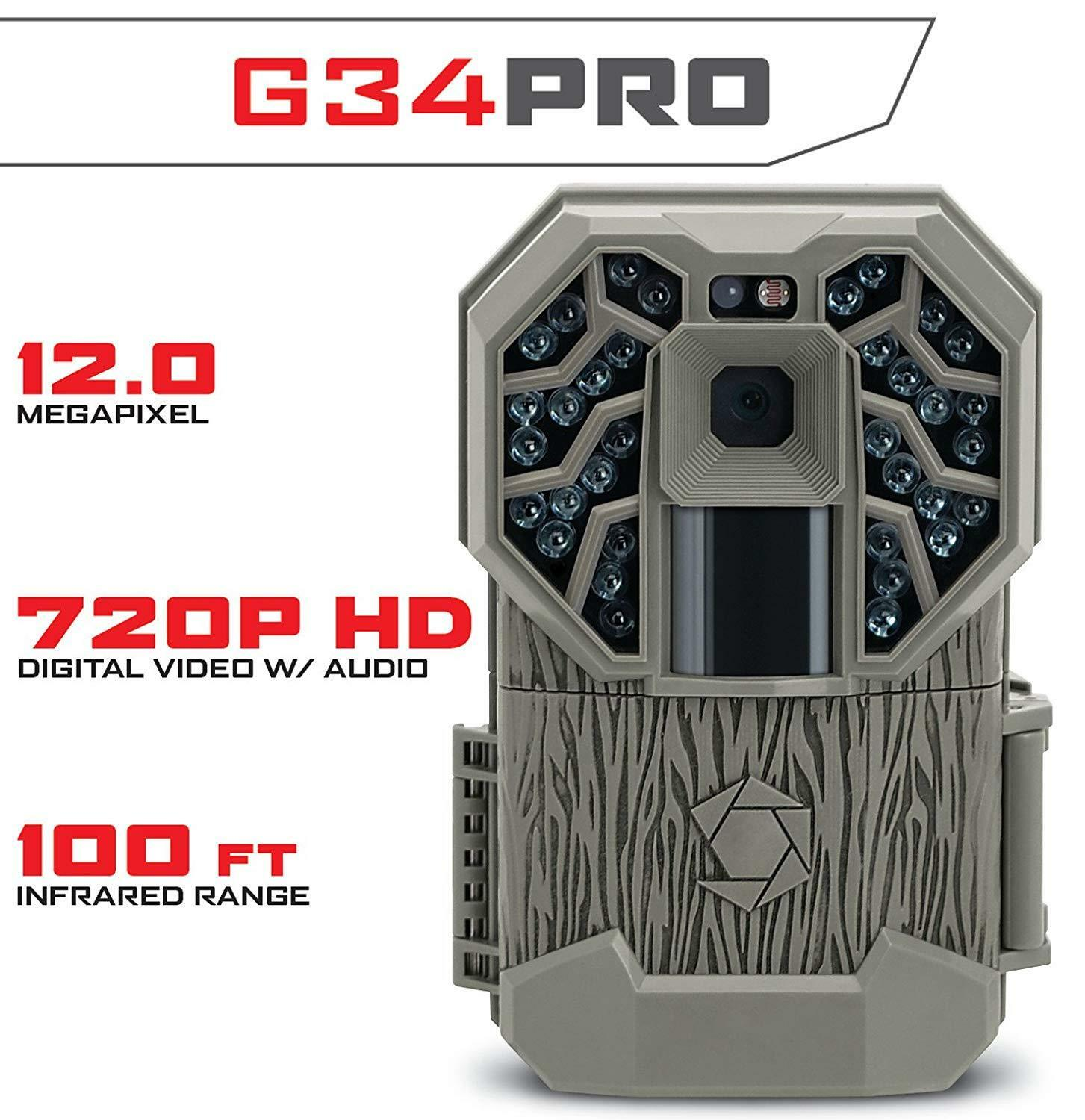 Stealth Trail  Camera, Stealth Cam G34 12mp Cogreen Game Trail Camera Hunting  up to 65% off
