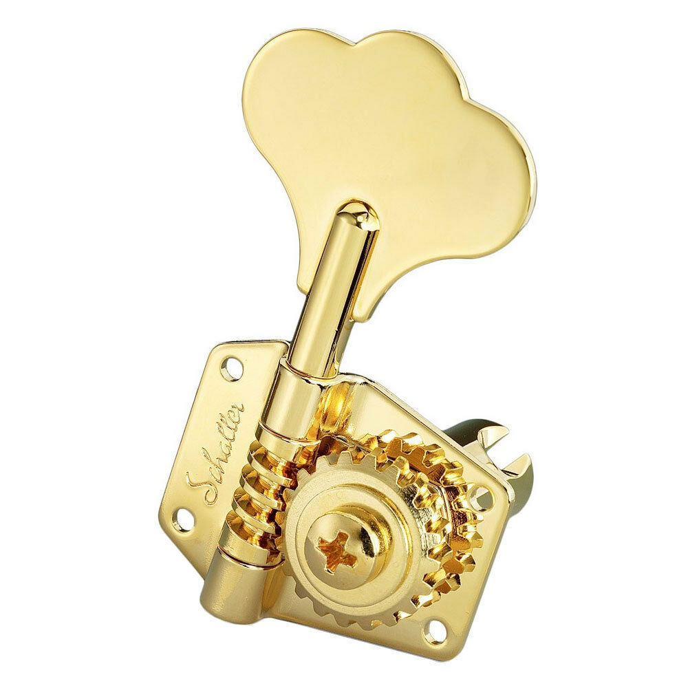 NEW NEW NEW Schaller BM Compact Vintage Style Bass Tuners 4-in Line for CBS Fender GOLD 575350