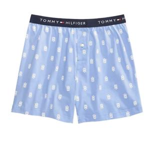 2d9226fad570b1 Detalhes sobre Tommy Hilfiger Gg Tecido Cueca Boxer Shorts botão azul  cintura Fly 40-42 Novo!- mostrar título no original