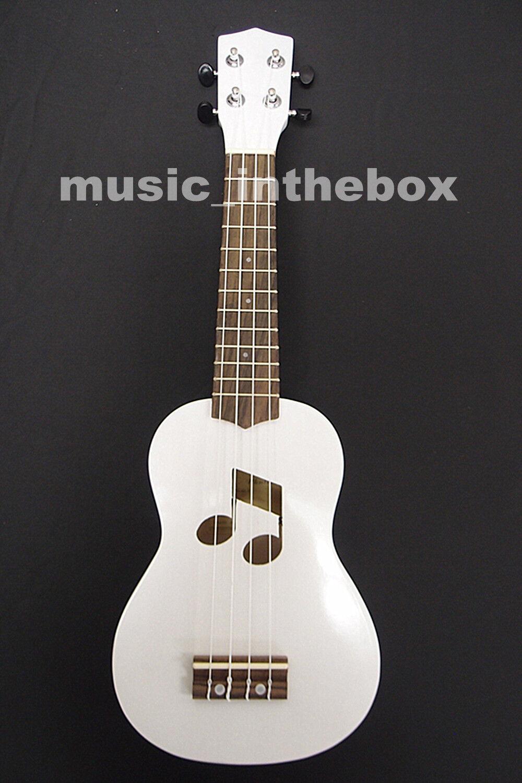 Schöne 21'Weiß Farbe Soprano Ukulele