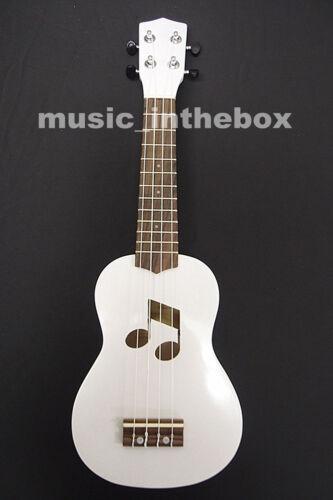 Beautiful 21/' White Color Soprano Ukulele /& Ukulele Bag