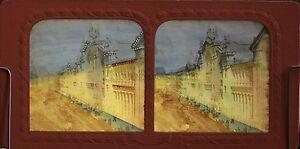 Francia Parigi Gare Del Nord Foto Stereo Diorama Tissue Vintage Albumina Ca 1865