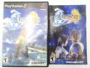 Sony-PS2-Playstation-2-Final-Fantasy-X-CASE-amp-MANUAL-ONLY-No-Game-Disc