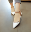 Womens-Pointed-Toe-Rivets-Ankle-Straps-Patent-Sandals-Shoes-Flat-Pump-Shoes-Stud thumbnail 3