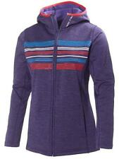 HELLY HANSEN Womens Nordic Purple Graphic Fleece Hoodie Jacket XL 16 BNWT