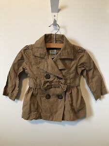 ca75005f3479 Old Navy Infant Girls Khaki 100% Cotton Spring Jacket Size 12-18 ...
