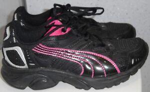 Dettagli su Da Donna Ragazze Puma Xenon TG UK 3 EUR 35.5 Nero Fucsia Scarpe Da Corsa Palestra mostra il titolo originale