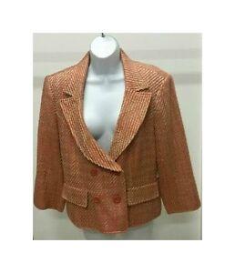 NWT-Worthington-Women-039-s-Multi-Color-3-4-Sleeve-Lined-Coat-Jacket-Blazer-Size-14