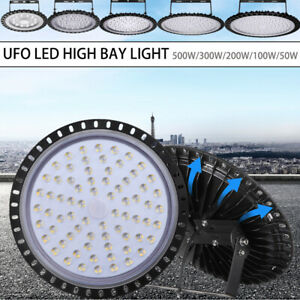 LED High Low Bay Light 50//100//200//300//500W Warehouse Garage Industrial Lights