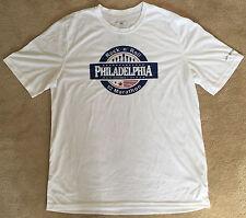 NEW Men's 2014 PHILADELPHIA MARATHON White BROOKS Running Jogging Shirt - SMALL