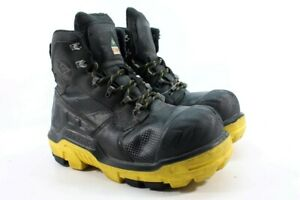 Dunlop-6-034-CTCP-Leather-Men-039-s-Black-Yellow-Work-Boots-UK-10-EU-44-5-2752