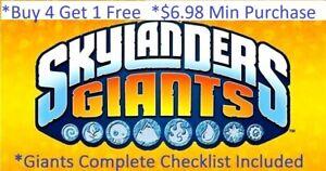 * Skylanders Giants Complete UR Set w Checklist *Buy 4 = 1Free*$6.98 Minimum👾