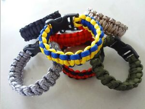 550lb Paracord Survival Bracelet, 7 Strand Wristband Parachute Camping Emergency