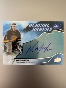 2019-20-Upper-Deck-ICE-Glacial-Graphs-KIRK-MCLEAN-AUTO-Vancouver-Canucks
