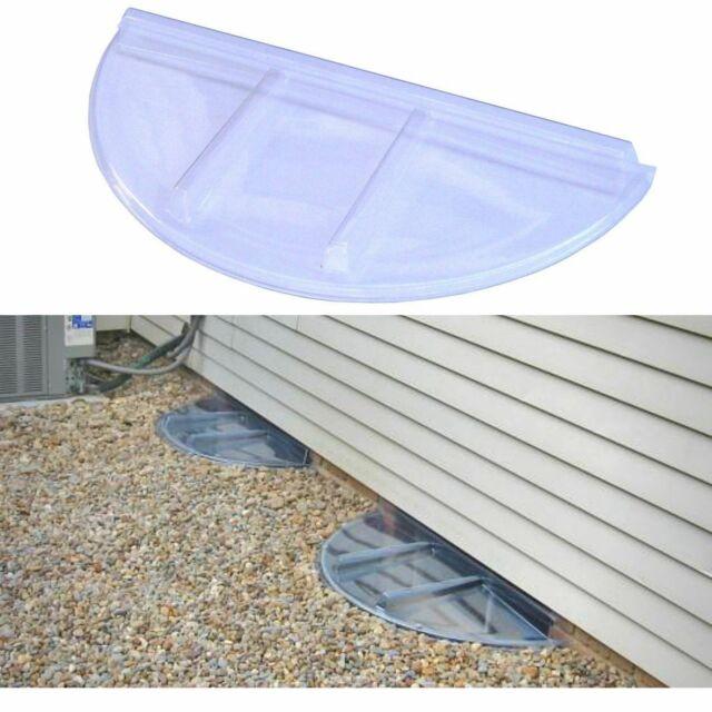 52 X 26 In Plastic Rectangular Window Well Cover Basement Egress Hardware Clear For Sale Online Ebay