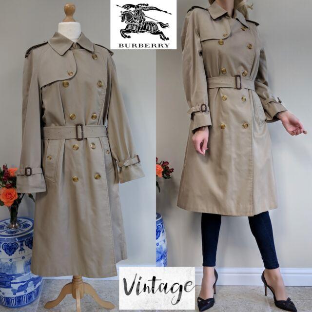BURBERRY Homme  Burberrys  Prorsum Classic Beige Trench Coat UK M 12 14  Vintage 650aa90b134